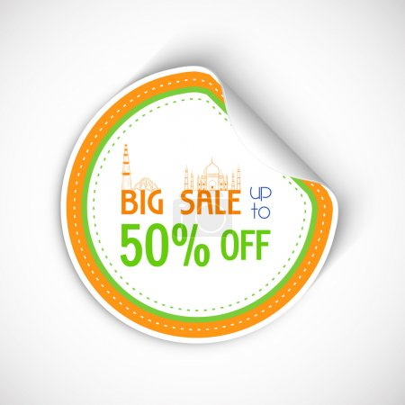 Sale sticker or label for Indian Republic Day.