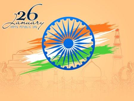 Ashoka Wheel for Indian Republic Day celebration.