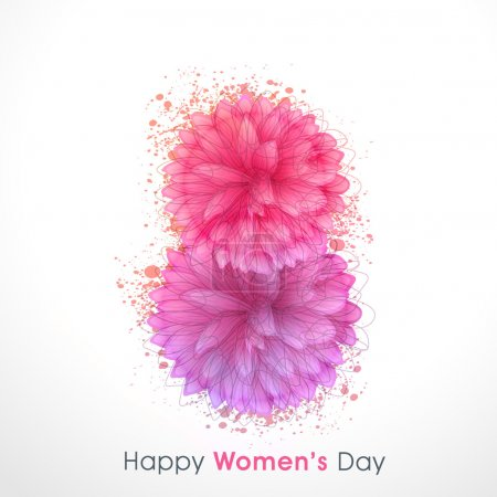 Stylish text 8 March for Women's Day celebration.