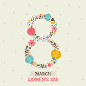 Greeting card for Women's Day celebration
