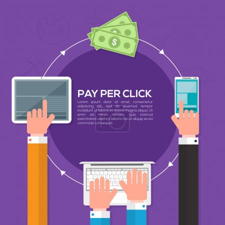 Pay per click, Online web marketing Business.