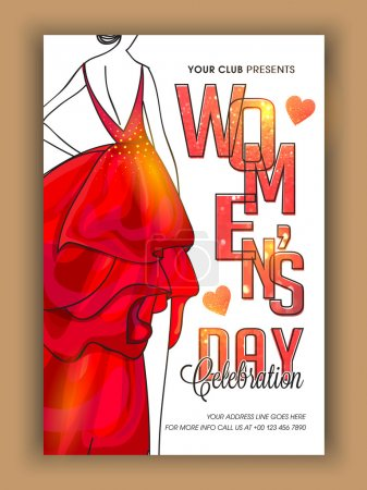 Template, Banner or Flyer for Women's Day.