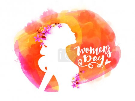 Greeting card design for Women's Day celebration.