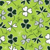Beautiful shamrock leaves decorated background for St Patrick's Day celebration concept