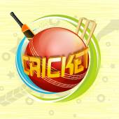 3D text for Cricket Sports concept.