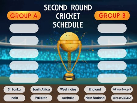 Cricket Match Schedule with Participant Countries.