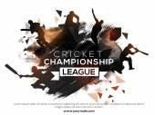 Poster Banner or Flyer for Cricket Championship League