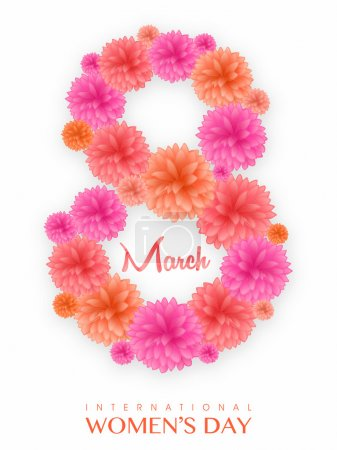 Floral text for International Women's Day.