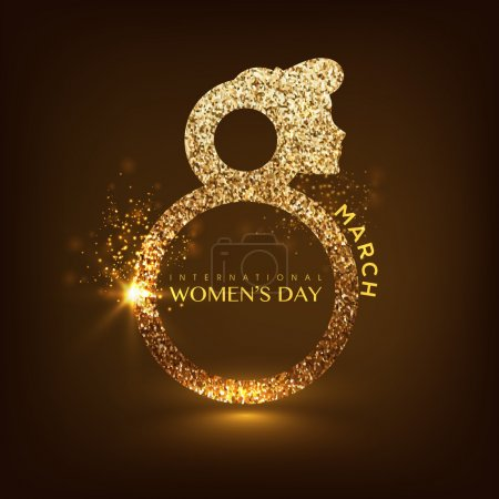 Creative shiny text for International Women's Day.