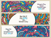Sale web header or banner for Women's Day