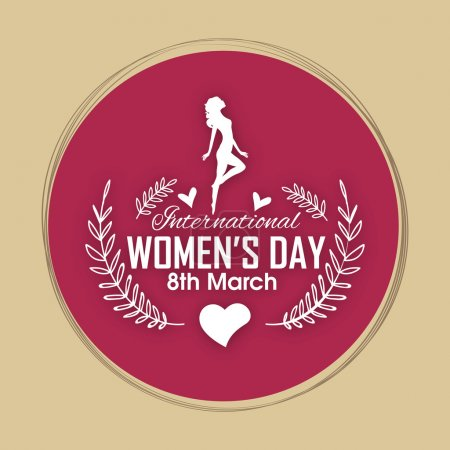 Greeting card design for International Women's Day.