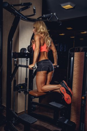Blond fitness woman