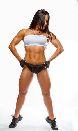 Muscular fitness woman