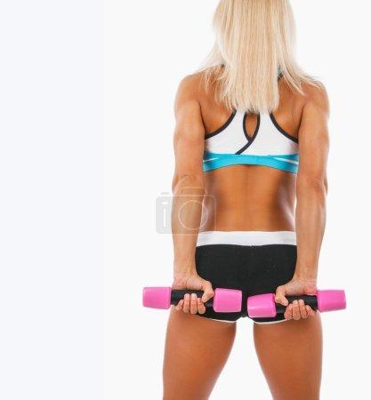 Blond muscular woman