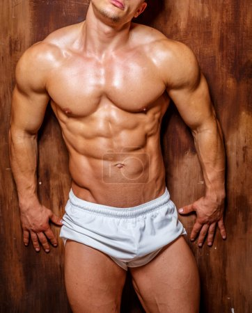Photo for Fitness. Handsome man with perfect body.studio shot . - Royalty Free Image