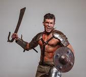 Gladiator in posizione dattacco
