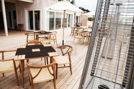 Terrace for relaxation on open air.