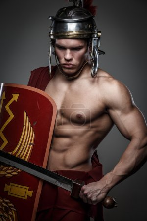 Roman warrior with sword.