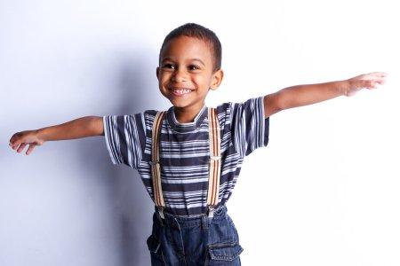 Cute african child in studio.