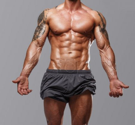Photo for Body of muscular male with great physique - Royalty Free Image