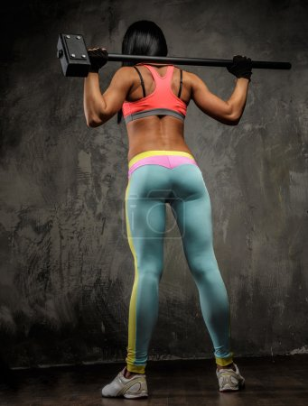 Woman in colorful sportswear