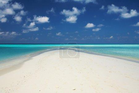 Ocean, beach and blue sky