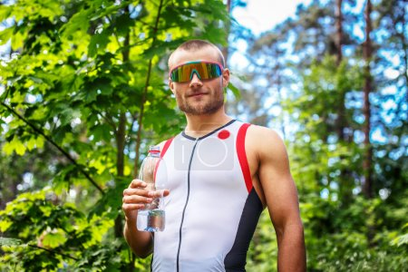 Man in sportswear and sunglasses