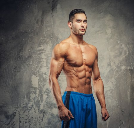 Shirtless muscular fit model