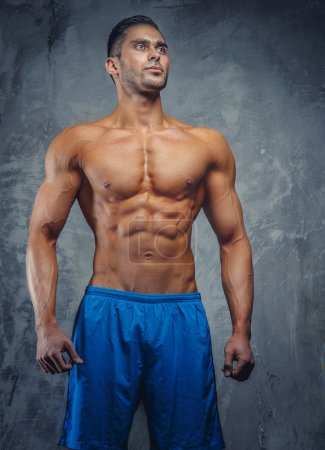 Shirtless muscular fit model