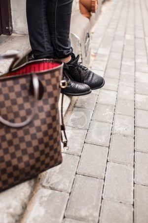 Brown fashinable bag