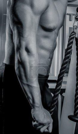 Photo pour Corps de l'homme musclé bouchent - image libre de droit