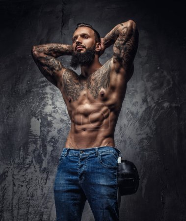 Awesome tattooed bearded man.