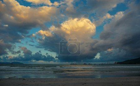 Seashore and blue sky