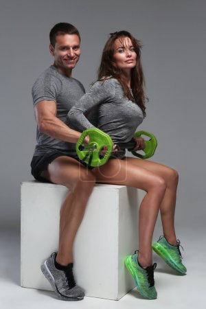 Fitness man and woman.