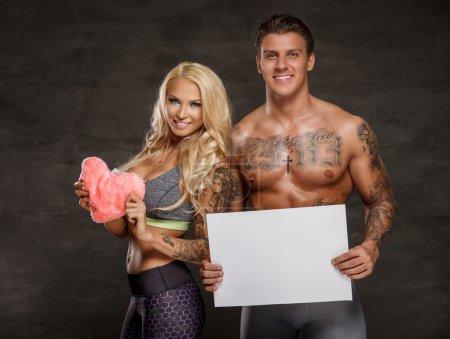 Happy fitness couple