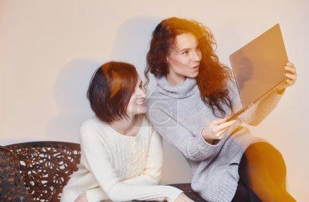 Two brunette girls