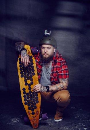 Bearded tattooed man