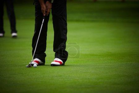Golf player's legs