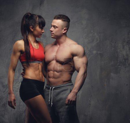 Stylish fitness couple