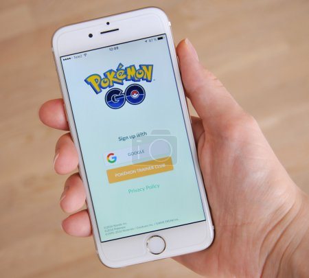 Tallinn, Estonia - July 18, 2016 Editorial image: Pokemon Go is a free-to-play, GPS based augmented reality mobile game developed by Niantic for iOS and Android devices
