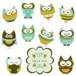 Set of owls...