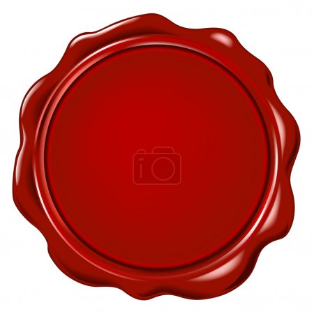 Illustration for Vector wax seal - Royalty Free Image