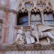 Winged lion decoration on Doges Palace in Venice, ...