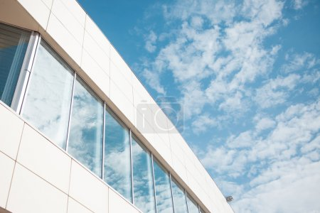 building glass background, wall with Windows