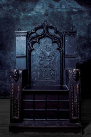 Photo for Royal throne. dark Gothic throne - Royalty Free Image