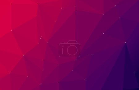 Photo for Purple abstract geometric  low poly style, background - Royalty Free Image