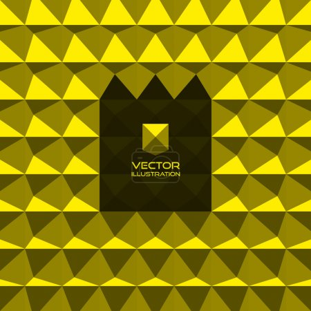 Abstract 3d geometric background. 3D vector interior wall panel
