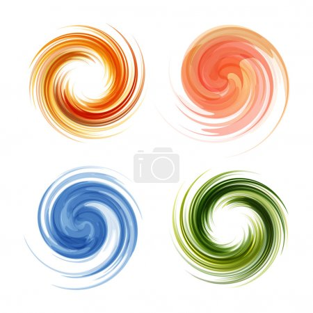 Colorful abstract icon set. Dynamic flow illustration.