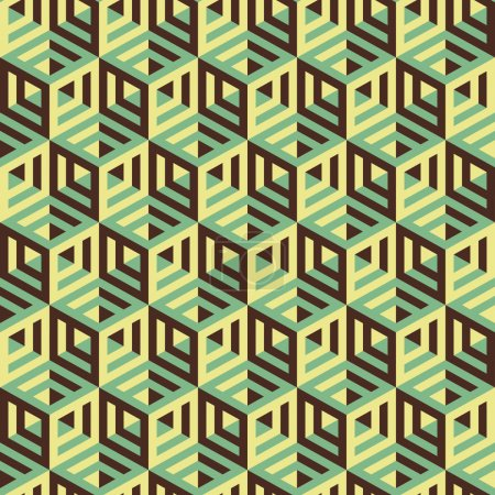 Hexagonal lines pattern. Abstract 3d background.