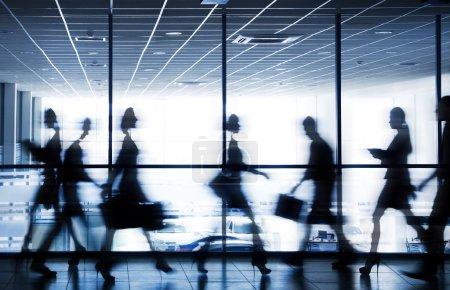 Rushing  business people